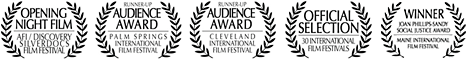 Official film festival recognition for Seeds: SilverDocs, Palm Springs, Cleveland, Social Justice Award